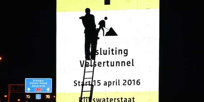 De week voor de afsluiting van de Velsertunnel